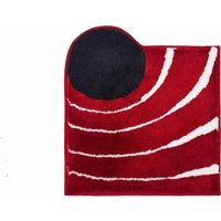 Tapis de bain COLANI 2 rouge 60 x 60 cm / Couleur: Rouge / Référence: b2627-064004007
