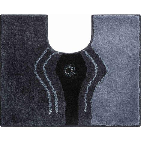 Tapis de bain contour de wc CRYSTAL LIGHT 50 x 60 cm anthracite / Couleur: Anthracite / Référence: b2440-064068