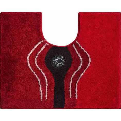 Tapis de bain CRYSTAL LIGHT rubis contour wc 50 x 60 cm / Couleur: Rubis / Référence: b2440-064012