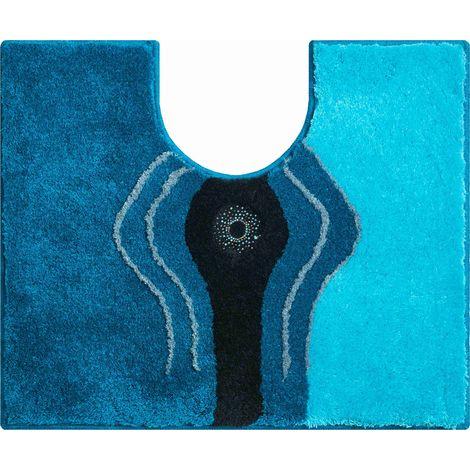 Tapis de bain CRYSTAL LIGHT turquoise contour wc 50 x 60 cm / Couleur: Turquoise / Référence: b2440-064126