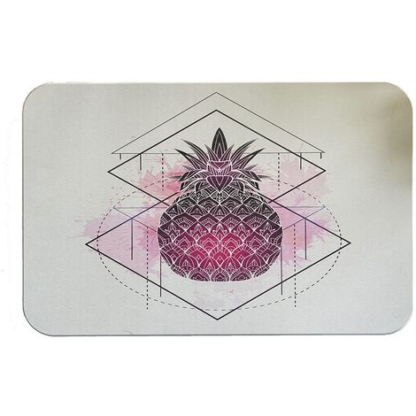 Tapis de Bain diatomite imprimé antidérapant écologique 60 x 40 x 1 cm