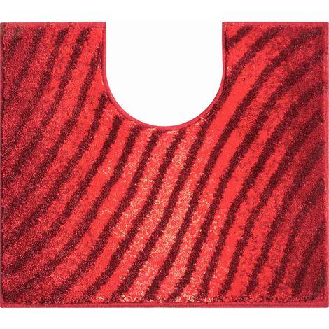 Tapis de bain DUNA RUBIS contour wc 50 x 60 cm / Couleur: Rubis / Référence: b2987-006001012