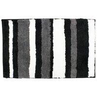 Tapis de bain en microfibres à séchage rapide - Noir et blanc - InterDesign - 60 x 90 cm