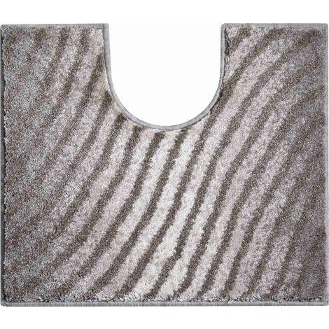 Tapis de bain ETERNITY beige contour wc 50 x 60 cm / Couleur: Beige / Référence: b2987-006001298