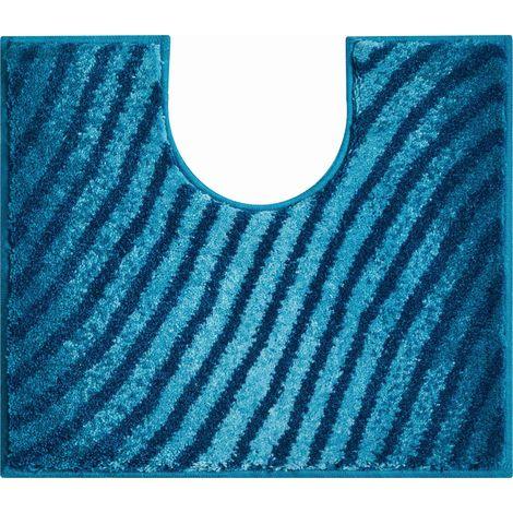 Tapis de bain ETERNITY turquoise contour wc 50 x 60 cm / Couleur: Turquoise / Référence: b2987-006001135