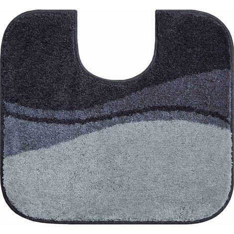 Tapis de bain FLASH anthracite contour wc 55 x 60 cm / Couleur: Anthracite / Référence: b4112-007001003