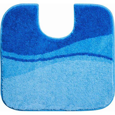 Tapis de bain FLASH bleu contour wc 55 x 60 cm / Couleur: Bleu / Référence: b4112-007001078