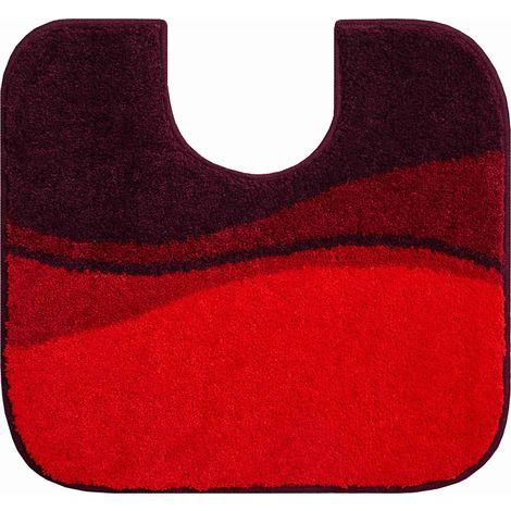 Tapis de bain FLASH rubis contour wc 55 x 60 cm / Couleur: Rubis / Référence: b4112-007001154