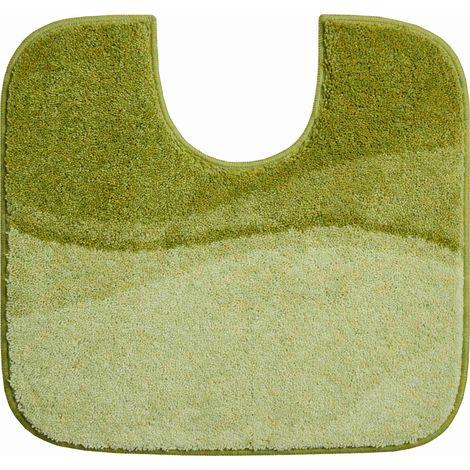 Tapis de bain FLASH vert contour wc 55 x 60 cm / Couleur: Vert / Référence: b4112-007001229