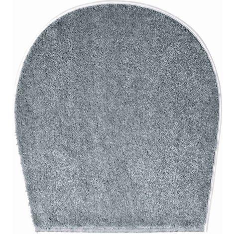 Tapis de bain LUCA gris housse pour abattant wc 47 x 50 cm / Couleur: Gris / Référence: b3742-000001096