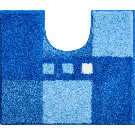 Tapis de bain MERKUR bleu contour wc 50 x 60 cm / Couleur: Bleu / Référence: b4114-006001133