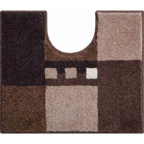 Tapis de bain MERKUR marron contour wc 50 x 60 cm / Couleur: Marron / Référence: b4114-006001252