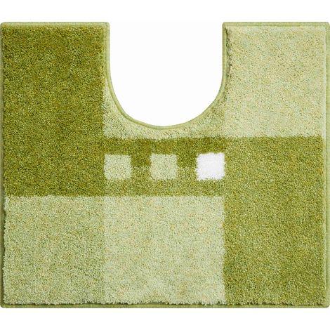 Tapis de bain MERKUR vert contour wc 50 x 60 cm / Couleur: Vert / Référence: b4114-006001228