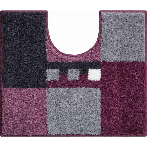 Tapis de bain MERKUR violet contour wc 50 x 60 cm / Couleur: Violet / Référence: b4114-006001177