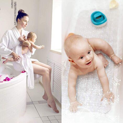tapis de bain Natura skin sensitive - tapis de bain 100x40 cm antidérapant pour enfants et bébés - tapis de douche tapis antidérapant (transparent)