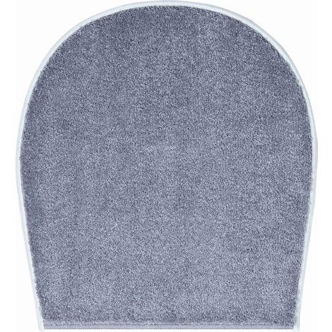 Tapis de bain RIALTO anthracite housse pour abattant wc 47 x 50 cm / Couleur: Anthracite / Référence: b2750-000001096