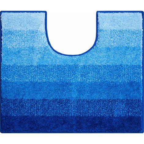 Tapis de bain RIALTO bleu contour wc 50 x 60 cm / Couleur: Bleu / Référence: b2750-006001246