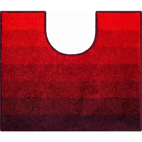 Tapis de bain RIALTO rubis contour wc 50 x 60 cm / Couleur: Rubis / Référence: b2750-006001022