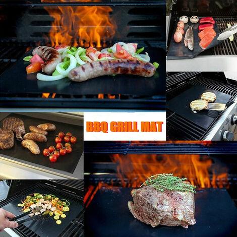 Tapis De Barbecue Anti-Adhesif Pour Tapis De Barbecue Reutilisable En Fibre De Verre