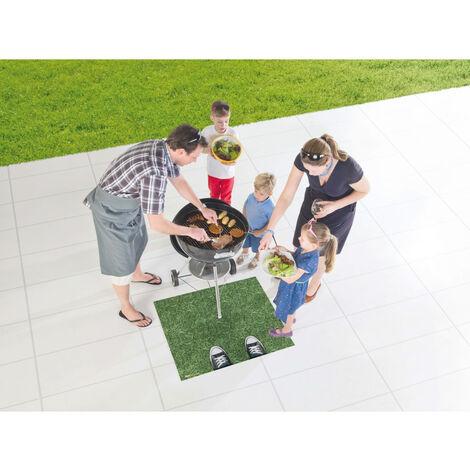 Tapis de barbecue moderne et résistant Metropolitan Vert 80x95