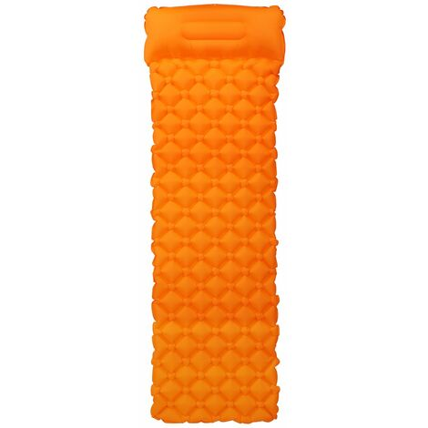 Tapis De Camping, Coussin De Couchage Gonflable, Orange