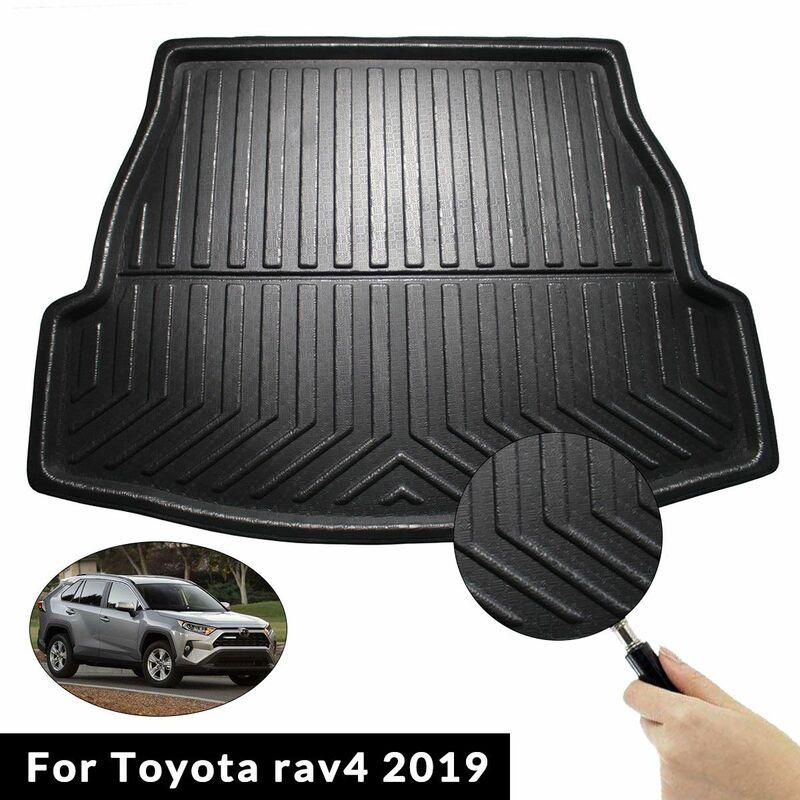Tapis de coffre arrière de voiture doublure de coffre tapis de cargaison tapis de sol boue pour Toyota rav4 2019