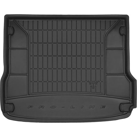 Tapis de coffre Auto - Sur Mesure - Bac de coffre pour Voiture - Rebords Surélevés - Caoutchouc haute qualité - Antidérapant - S
