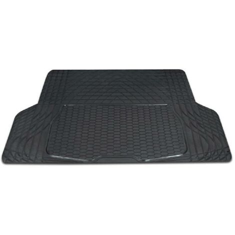 Tapis de coffre luxe - PVC - 109 x 141 cm - Gris