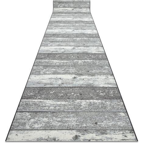 """main image of """"TAPIS DE COULOIR antidérapant 80 cm Bois, planche gris nuances de gris et argent 80x250 cm"""""""