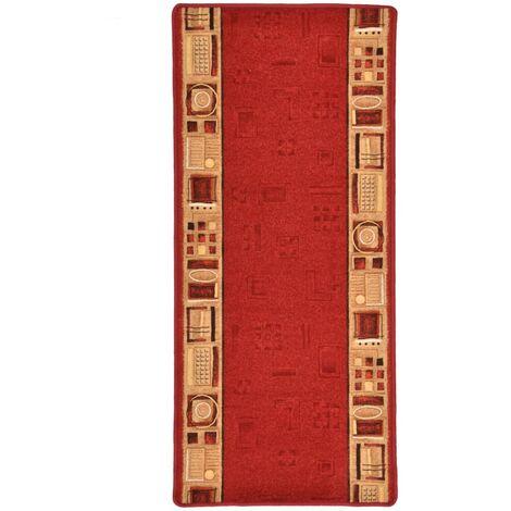 Tapis de couloir Support de gel Rouge 67x120 cm