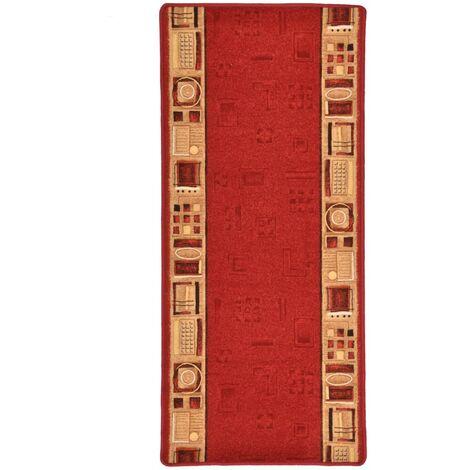 Tapis de couloir Support de gel Rouge 67x150 cm