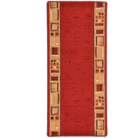 Tapis de couloir Support de gel Rouge 67x200 cm