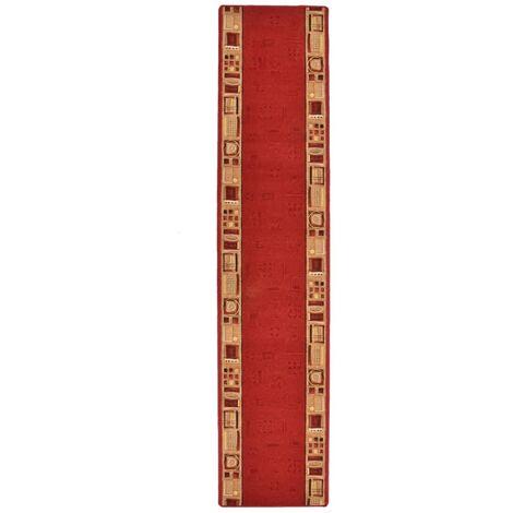 Tapis de couloir Support de gel Rouge 67x250 cm