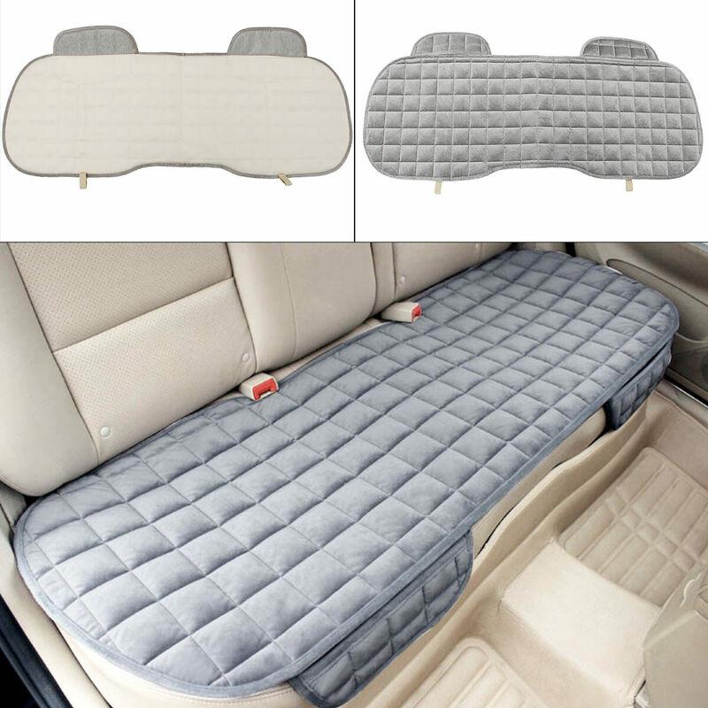Tapis de coussin de siège de voiture pour coussin de chaise automatique en peluche d'hiver antidérapant (gris, arrière)