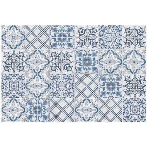 Tapis De Cuisine 66x180cm Bleu Gris 40441 Mosaiko