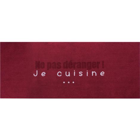 Tapis de cuisine en polyamide Ne pas déranger - Dim : 50 x 120 cm - PEGANE -