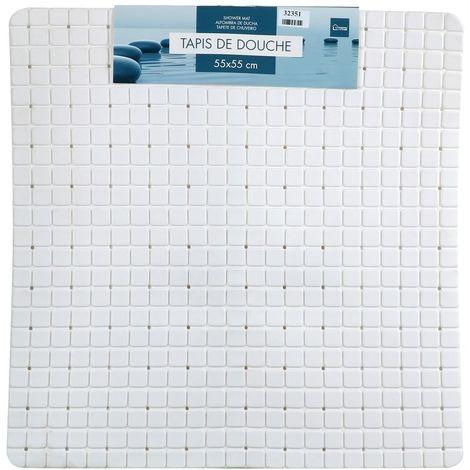 Tapis de douche anti-dérapant Mosaic - L. 50 x l. 50 cm - Blanc - Blanc