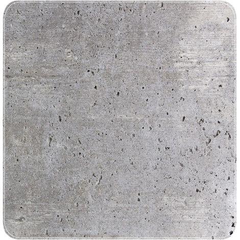 Tapis de douche antidérapant design ciment Concrete - L. 54 x l. 54 cm - Gris - Gris clair