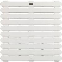 Tapis de douche In/Outdoor 55x55x3 blanc