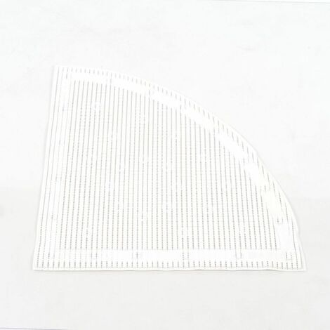 Tapis de douche ou baignoire d'angle antidérapant Stay-Put - Blanc