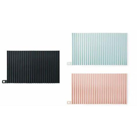 Tapis de drainage, tapis de table, napperon, tapis chauffant, tapis chauffant 3 pièces (noir + rose + bleu clair)