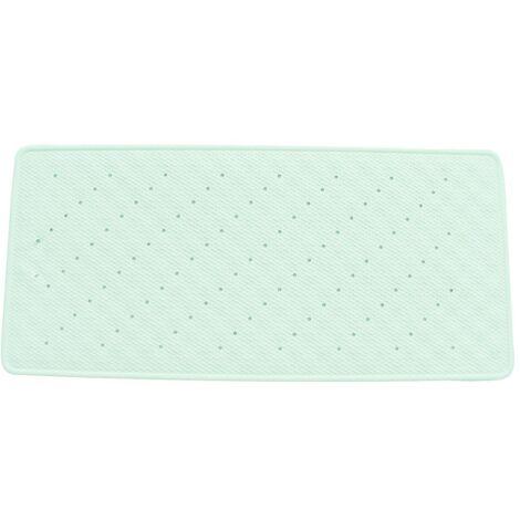 Tapis de fond de baignoire caoutchouc 35x75cm blanc