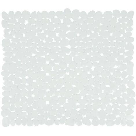 tapis de fond de douche pvc galet 53x53cm blanc 347329. Black Bedroom Furniture Sets. Home Design Ideas