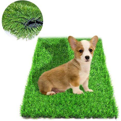 Tapis de Gazon Artificiel pour Chiens, Tapis d'herbe et paillasson pour intérieur et extérieur avec Trous de Drainage pour Chiot, Tapis de propreté, Tapis pour décoration de pelouse