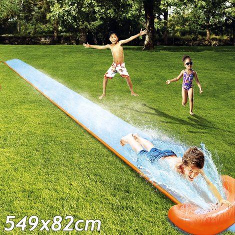 Tapis de glisse toboggan glissant H2OGO 549x82cm avec rembourrage gonflable