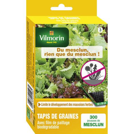 Tapis de graines anti mauvais herbes Mesclun