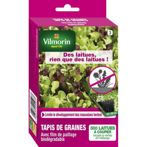 Tapis de graines anti mauvaises herbes laitues à couper en mélange