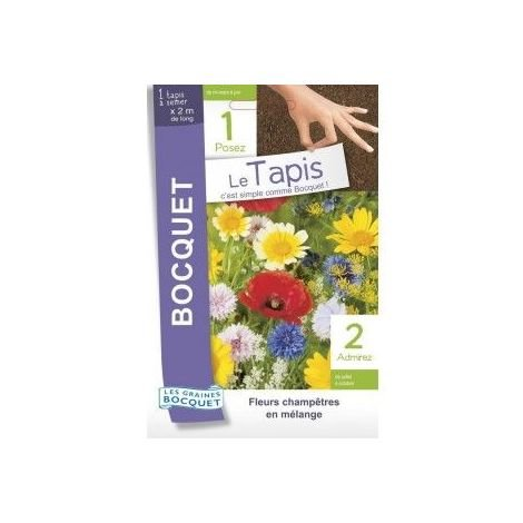 Tapis de graines de fleurs champêtres en mélange - 15g