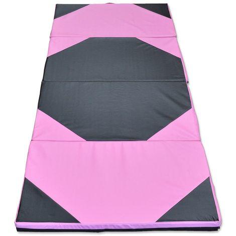 Tapis de gymnastique pliant panneau épais Gym Fitness Yoga Exercice Pad Hasaki