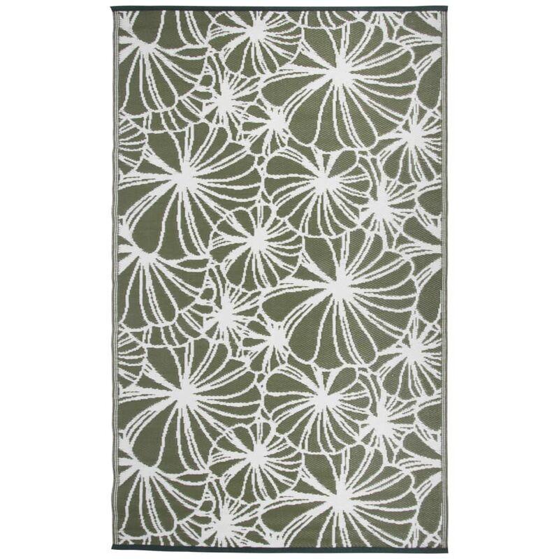 Esschert Design Tapis d'extérieur 241x152 cm Motif floral OC21
